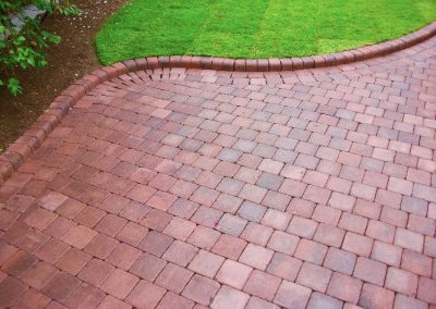 Block paving garden