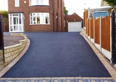 Block paving with paatern and tarmac