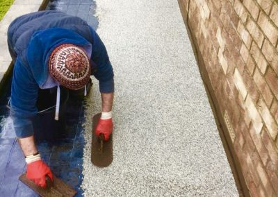 Install resin bound pathway