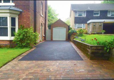 Long tarmac driveway