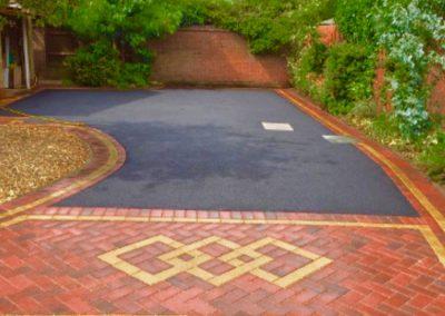 Pattern block paving