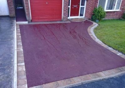 Red tarmac driveway for an alternative look