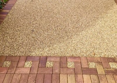 Resin bound driveway with block paving border