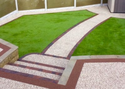 Resin bound garden with borders