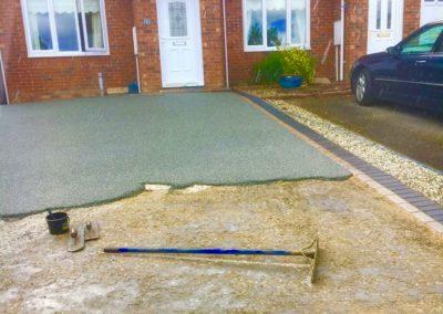 Resin bound installation groundwork
