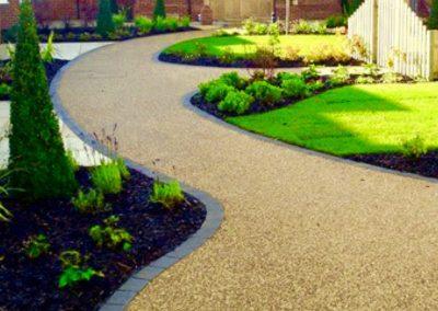 Resin bound pathway garden