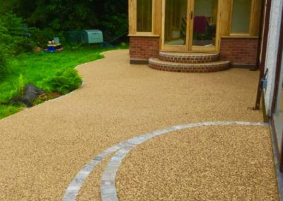 Resin bound patio area