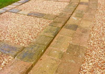 Resin bound with block paving