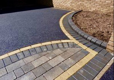 Tarmac driveway and block paving combination