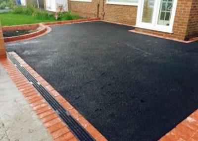 Tarmac driveway black