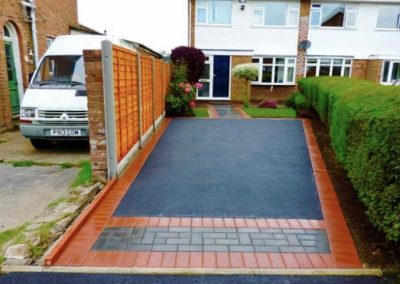 Tarmac driveway combined with block paving