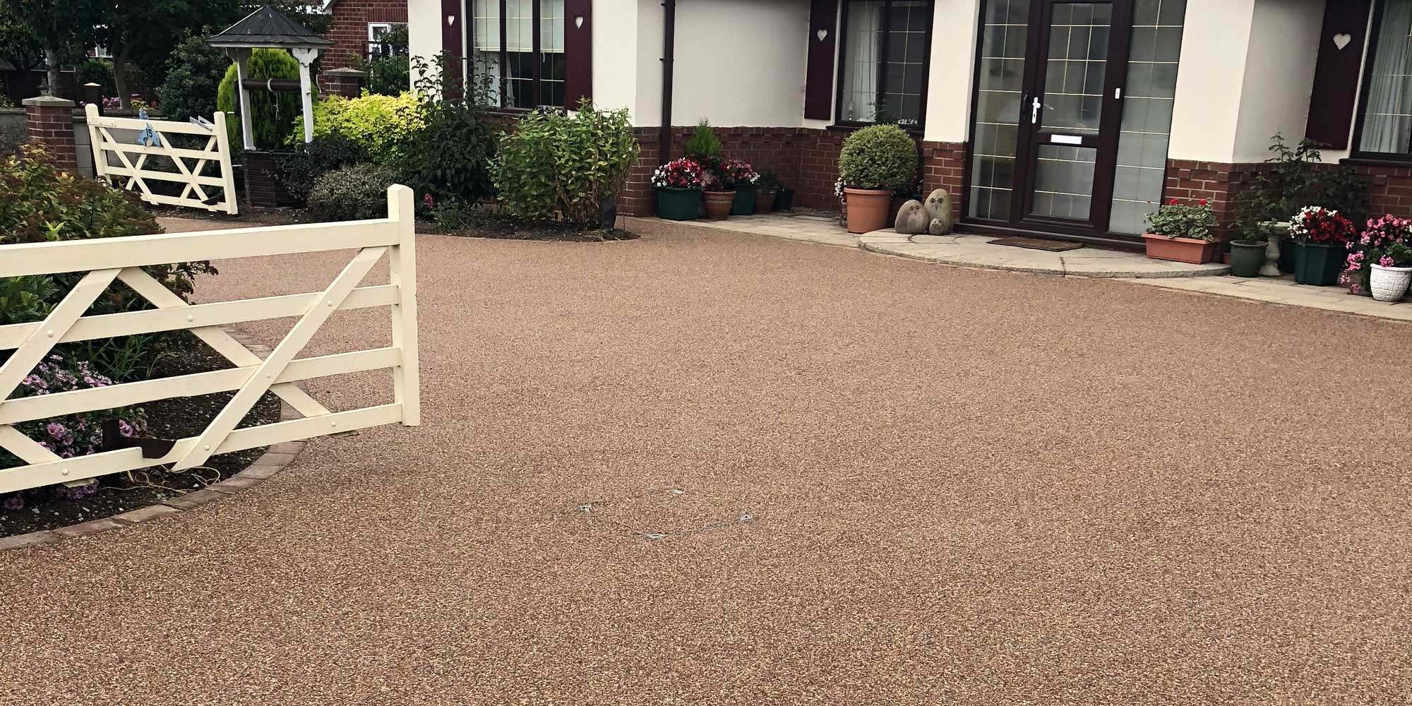 large surface resin bound