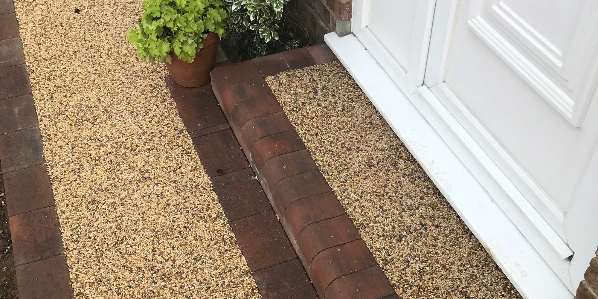 resin bound doorstep